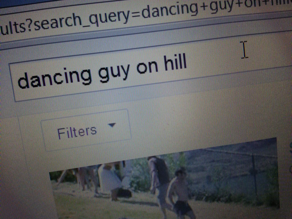 Dancing guy on hill